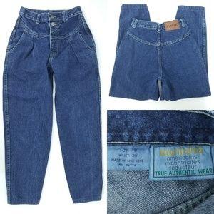 """Vtg 80s Manisha High Waist Pleated Jeans 24x25.5"""""""